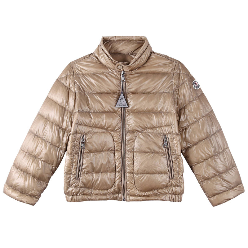 Boys Champagne Down Padded 'Acrous' Jacket With Hidden Pocket - CÉMAROSE | Children's Fashion Store - 1