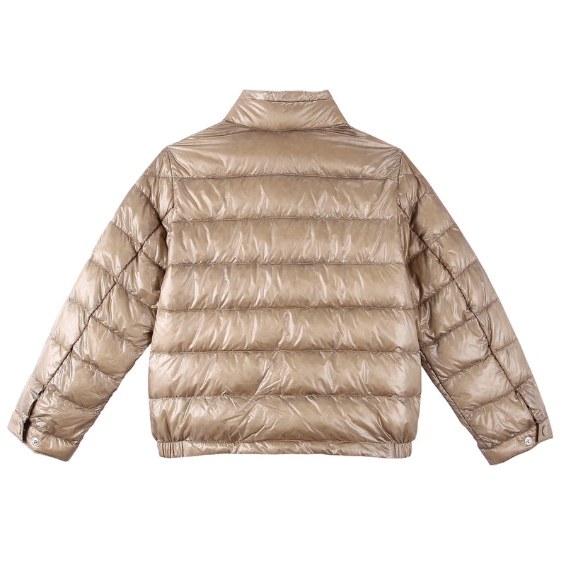 Boys Champagne Down Padded 'Acrous' Jacket With Hidden Pocket - CÉMAROSE | Children's Fashion Store - 2