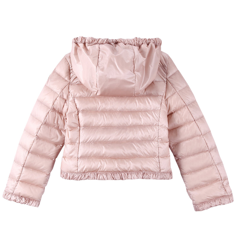 Baby Girls Pink Down Padded 'Flavienne' Jacket With Frilly Cuffs - CÉMAROSE | Children's Fashion Store - 2