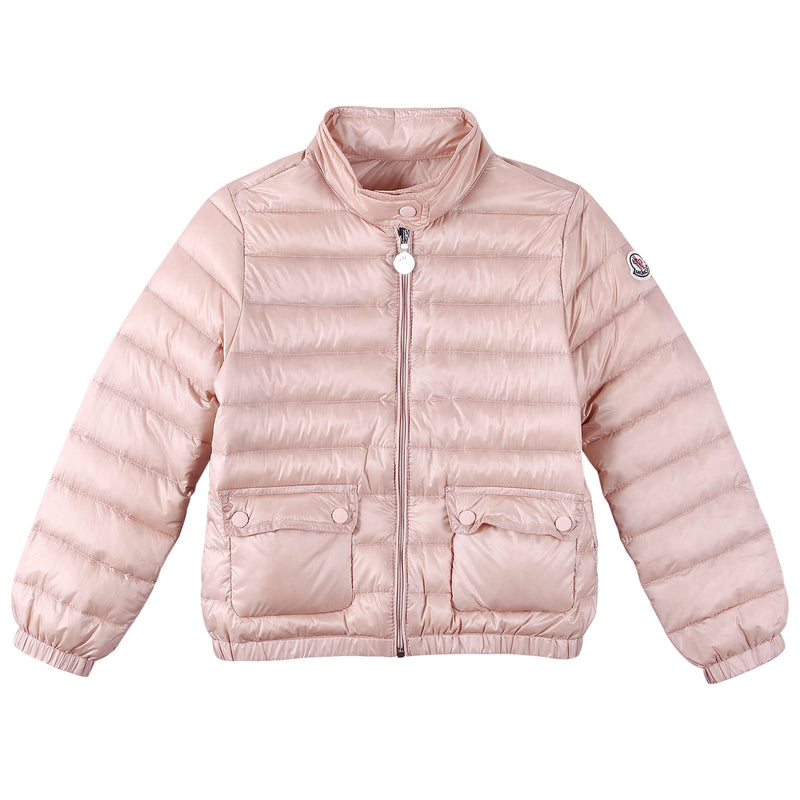 Girls Bright Pink Down Padded 'Lans' Jacket With Patch Pocket - CÉMAROSE | Children's Fashion Store - 1