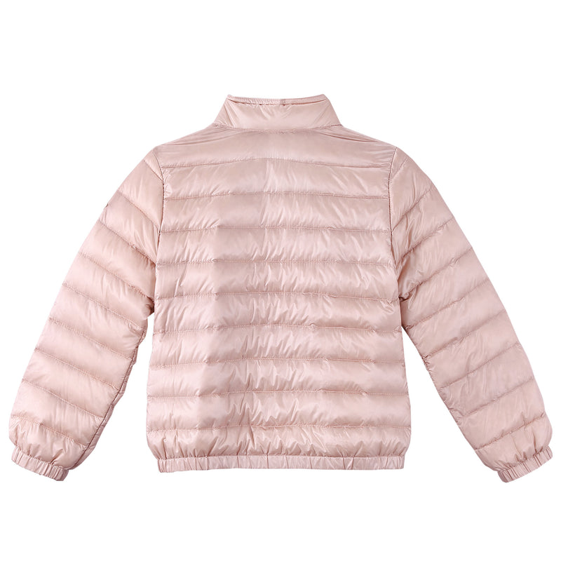 Girls Bright Pink Down Padded 'Lans' Jacket With Patch Pocket - CÉMAROSE | Children's Fashion Store - 2