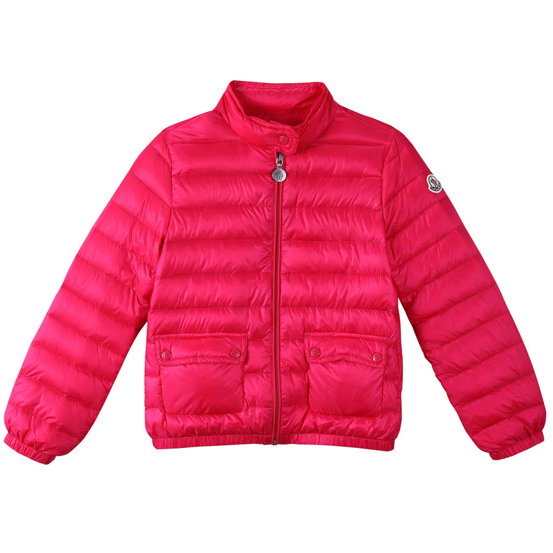 Girls Rose Red Down Padded 'Lans' Jacket With Patch Pocket - CÉMAROSE | Children's Fashion Store - 1