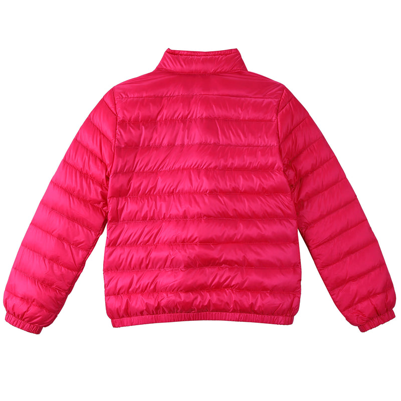 Girls Rose Red Down Padded 'Lans' Jacket With Patch Pocket - CÉMAROSE | Children's Fashion Store - 2