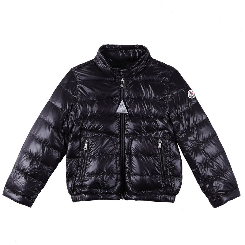 Boys Black Down Padded 'Acrous' Jacket With Hidden Pocket - CÉMAROSE | Children's Fashion Store - 1