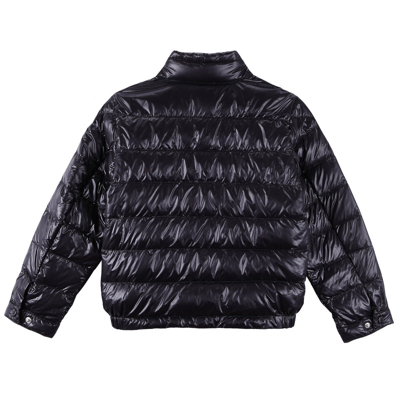 Boys Black Down Padded 'Acrous' Jacket With Hidden Pocket - CÉMAROSE | Children's Fashion Store - 2