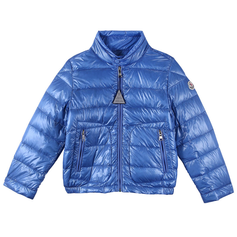 Boys Blue Down Padded 'Acrous' Jacket With Hidden Pocket - CÉMAROSE | Children's Fashion Store - 1
