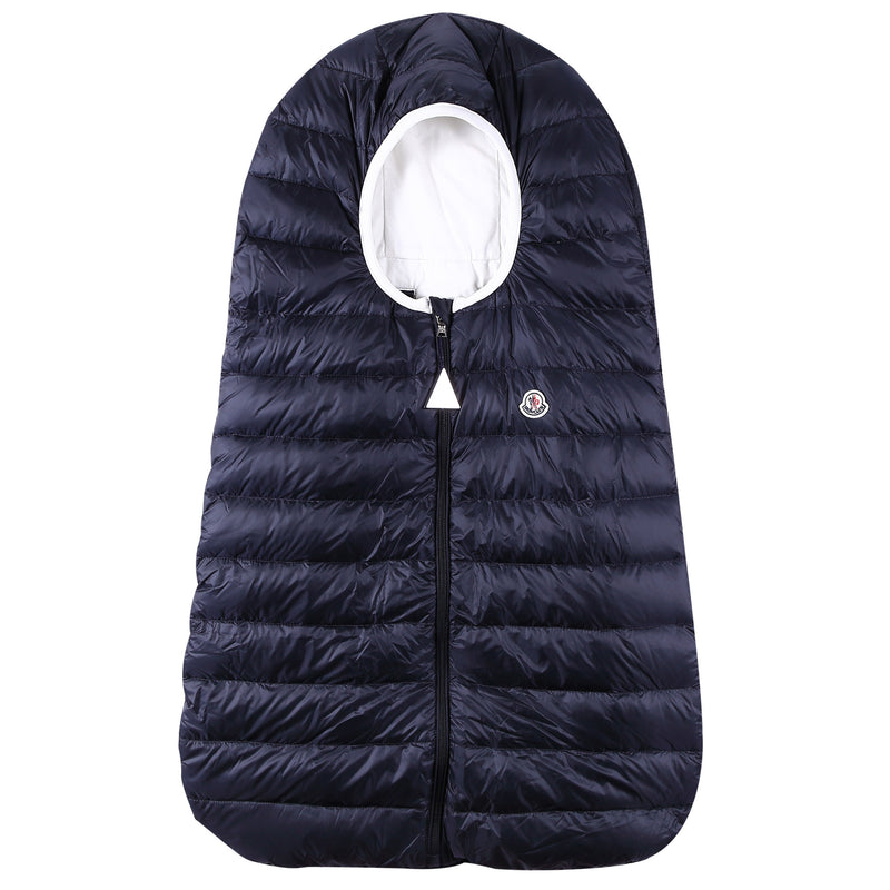 Baby Navy Blue Down Padded 'Sacco' Sleeping Bag - CÉMAROSE | Children's Fashion Store - 1