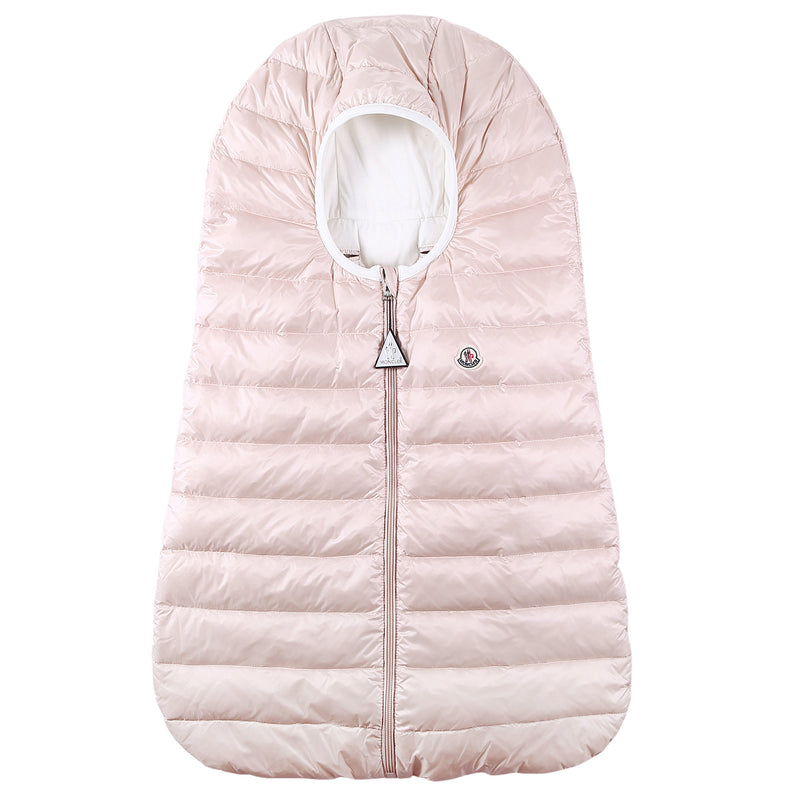 Baby Light Pink Down Padded 'Sacco' Sleeping Bag(74cm) - CÉMAROSE | Children's Fashion Store - 1