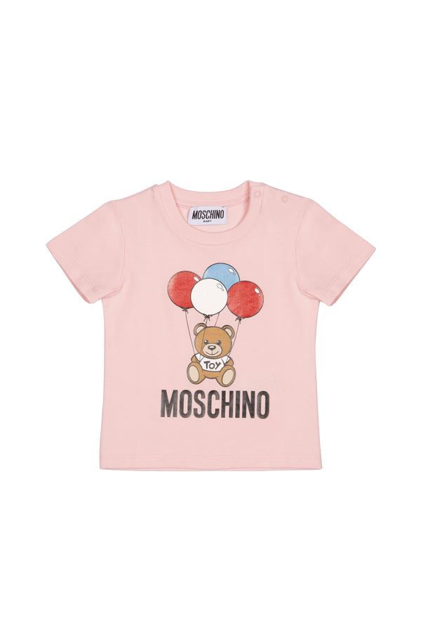 Baby Girls Pink Cotton T-shirt