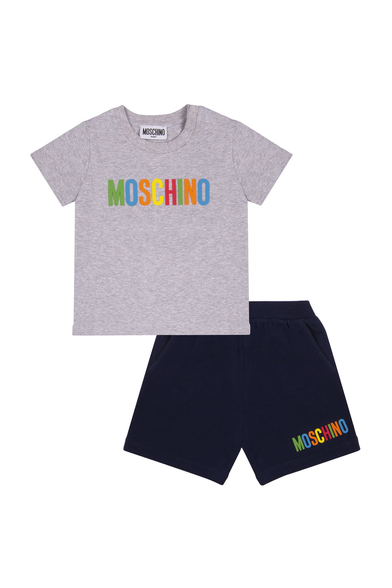 Baby Boys Grey Cotton Set