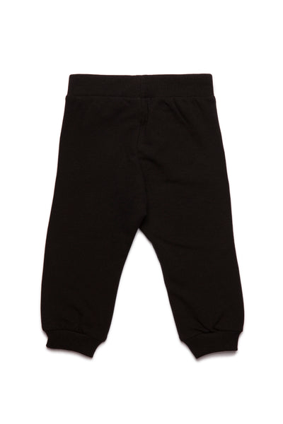 Baby Boys & Girls Black Logo Cotton Trousers