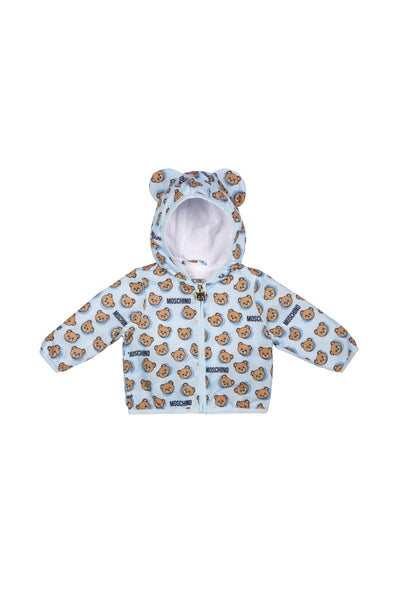Baby Boys & Girls Blue Printed Jacket