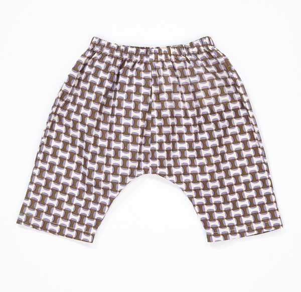 Girls Lilac print Cotton Trousers