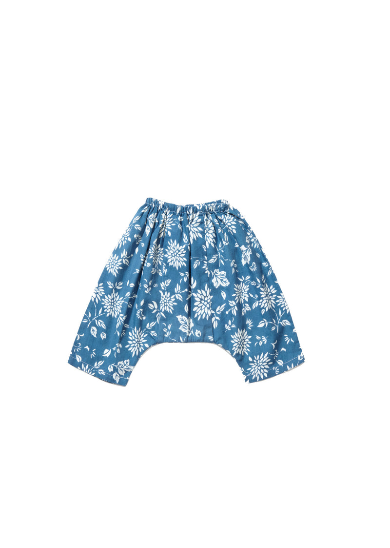 Baby Blue Flower Printed Trousers