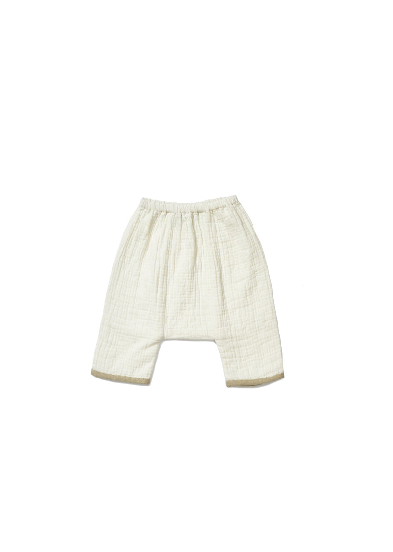 Baby White Cotton Trousers