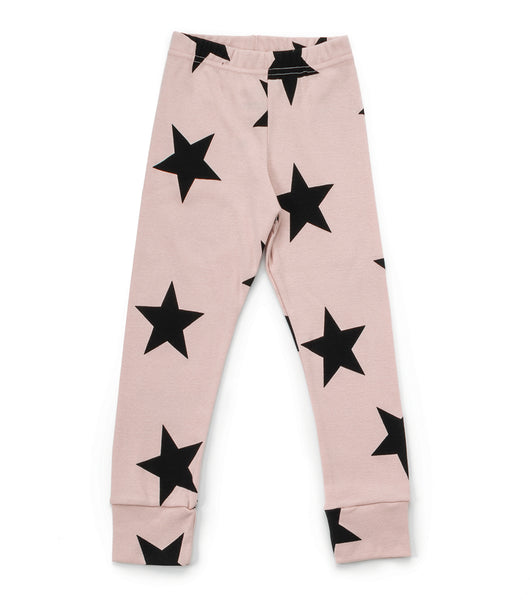 Baby Girls Light Pink Star Cotton Leggings