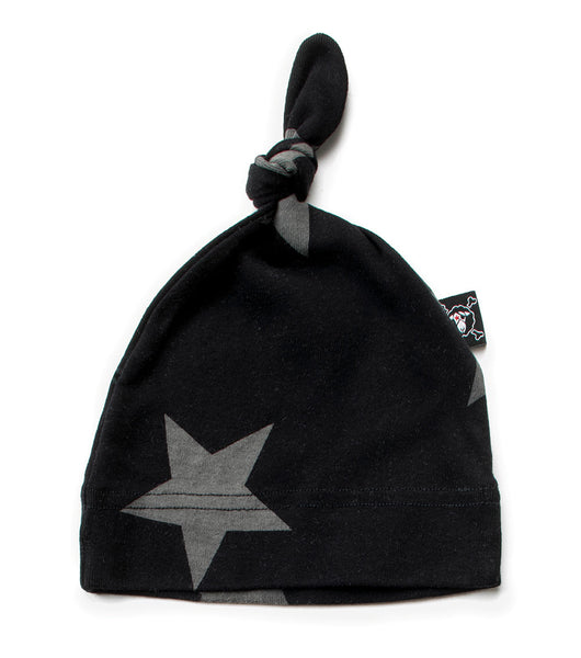 Baby Boys & Girls Black Star Cotton Hat