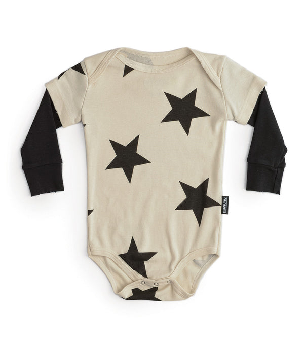 Baby Boys & Girls Natural Stars Rompers