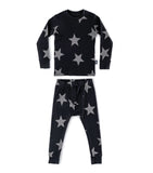 Boys & Girls Black Star Cotton Set