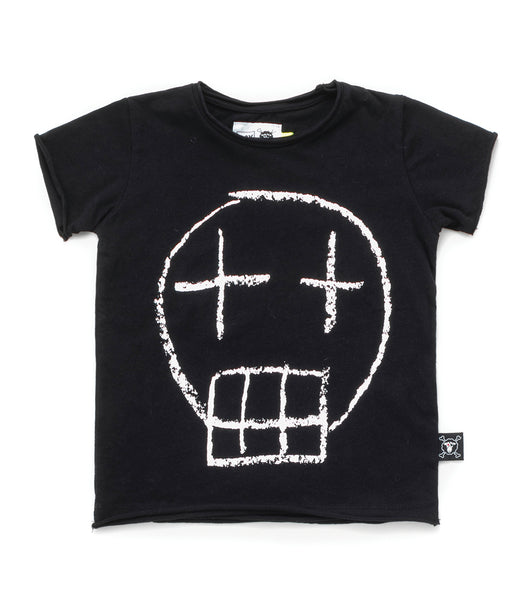 Baby Boys Black Skull Cotton T-shirt