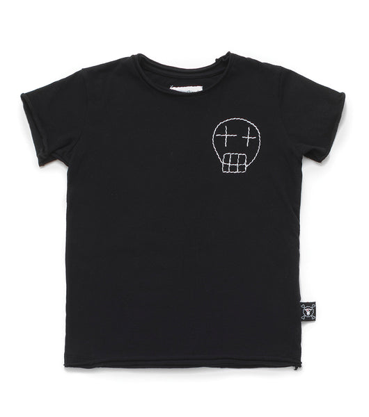 Baby Boys Black Cotton T-shirt
