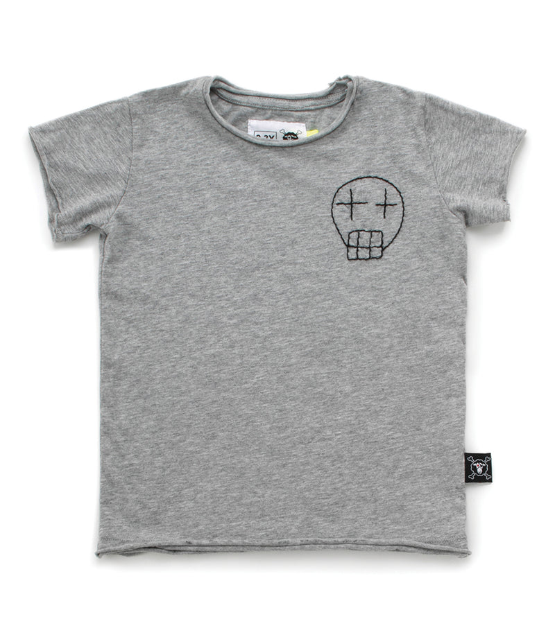 Baby Boys Grey Cotton T-shirt