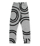 Baby Girls Grey Light Circle Cotton Leggings