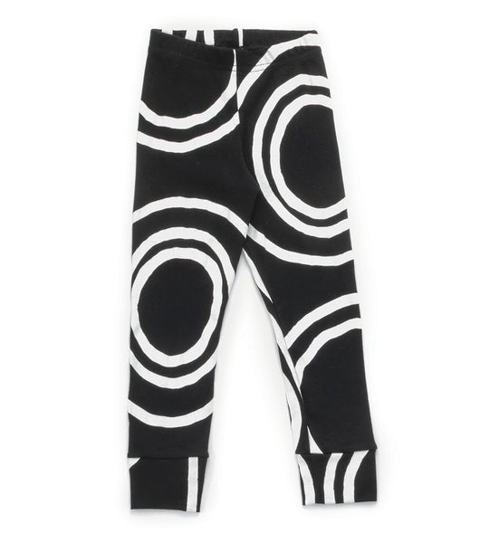 Baby Girls Black Light Circle Cotton Leggings