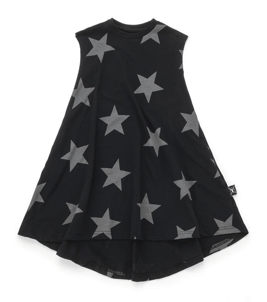 Baby Girls Black Star Cotton Dress