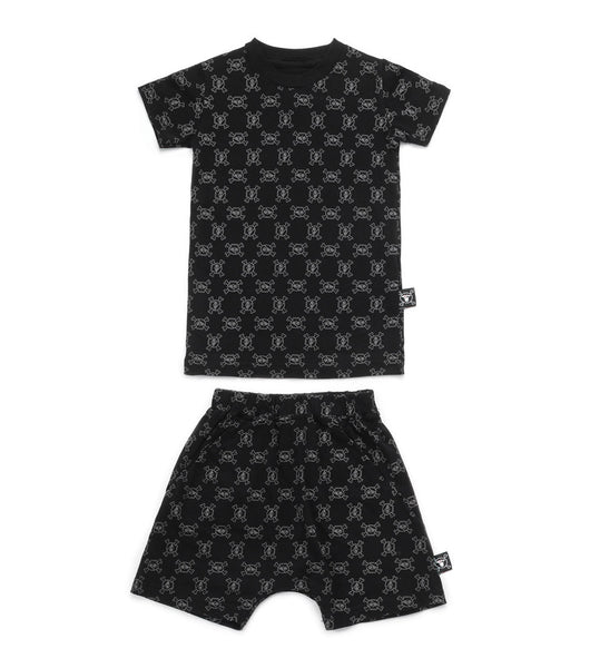 Baby Boys Black Cotton Loungewear Sets
