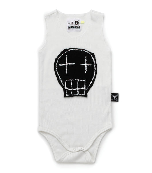 Baby Boys White Sketch Babysuits