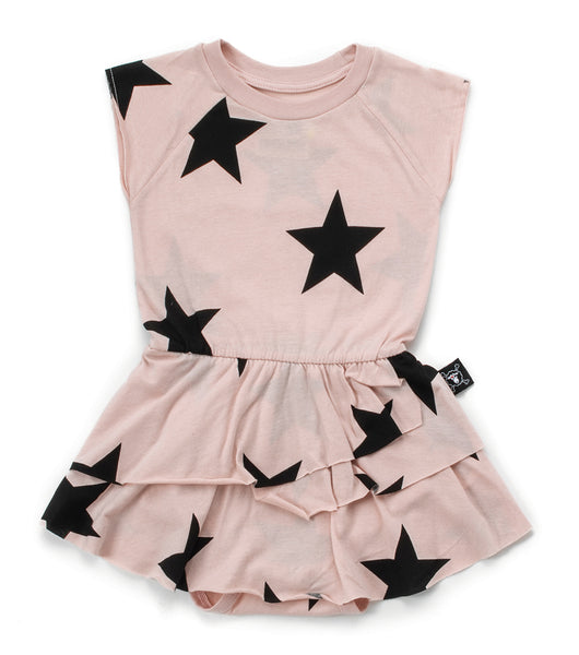 Baby Girls Pink Star Sleeveless Dress