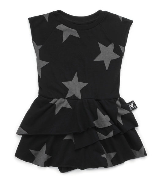 Baby Girls Black Star Sleeveless Dress
