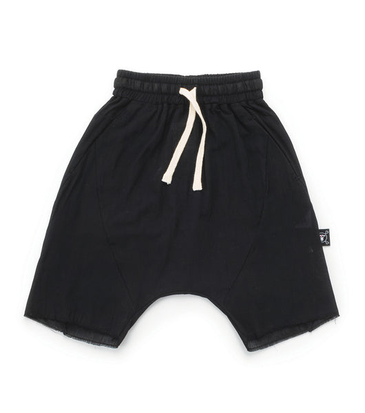 Baby Boys Black Cotton Shorts