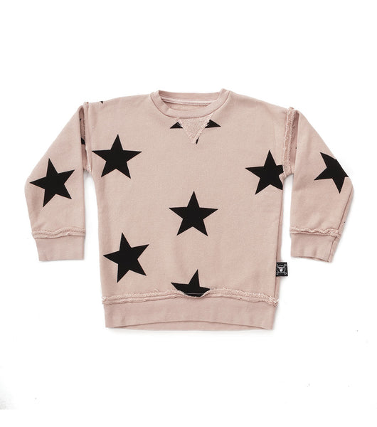 Boys & Girls Pink Star Cotton Sweatshirt