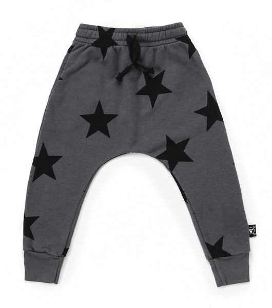 Boys & Girls Dark Grey Star Baggy Cotton Trousers