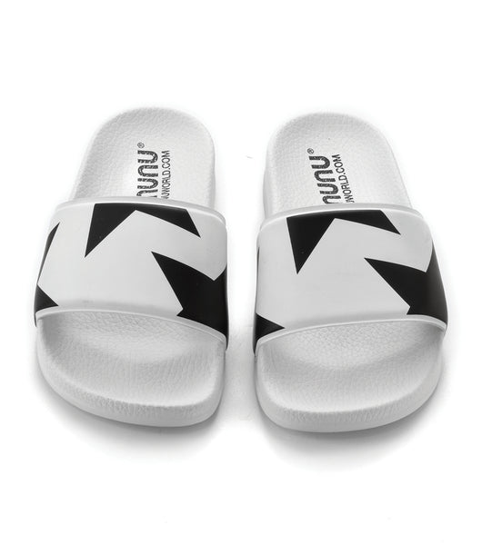 Girls White & Black Sandals