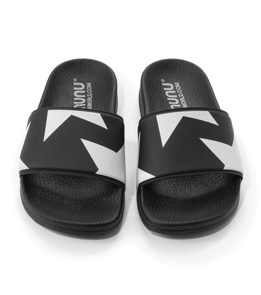 Girls Black & White Sandals