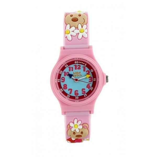 Girls Light Pink Bear Cub Watch(3-6Y)