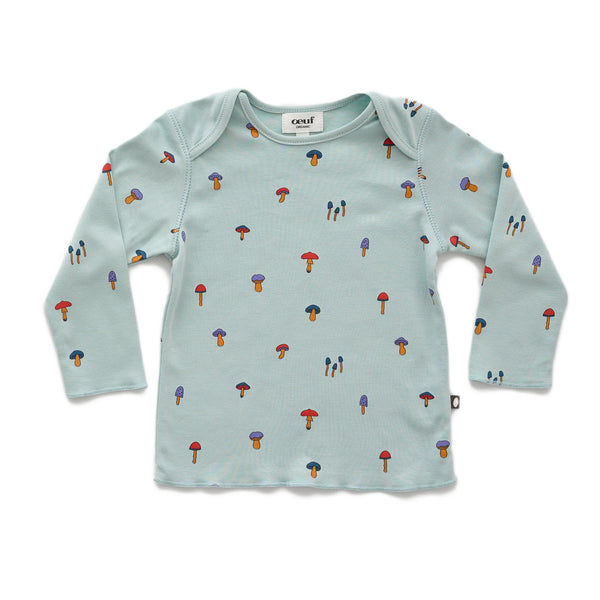 Baby Boys & Girls Sky Grey T-Shirt