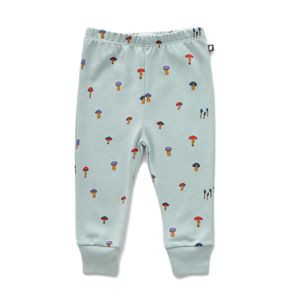 Baby Boys & Girls Sky Grey Mushroom Leggings