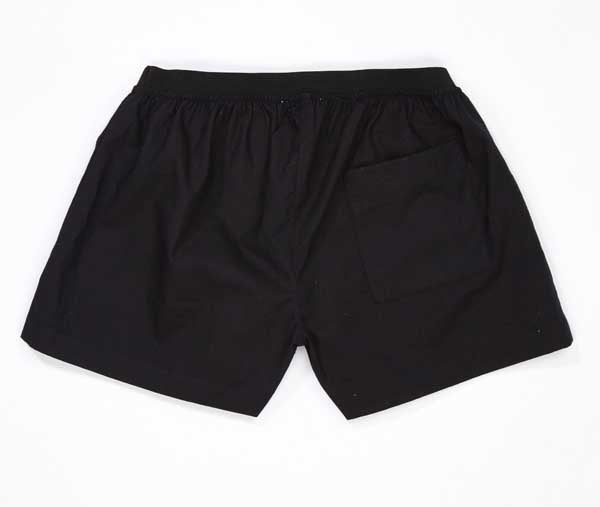 Boys and Girls Black Cotton Shorts
