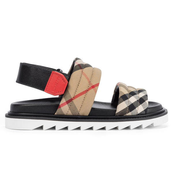 Boys & Girls Beige Check Sandals