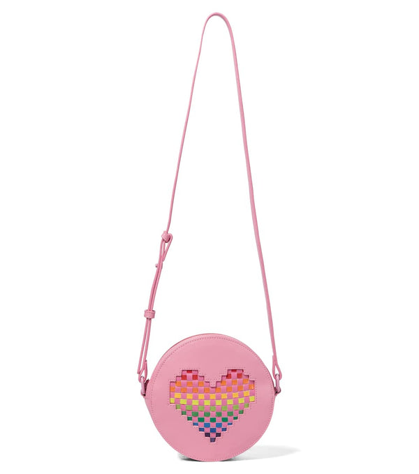Girls Pink Heart Shoulder Bag