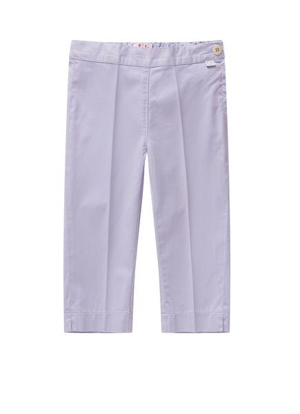 Girls Lilac Cotton Trousers