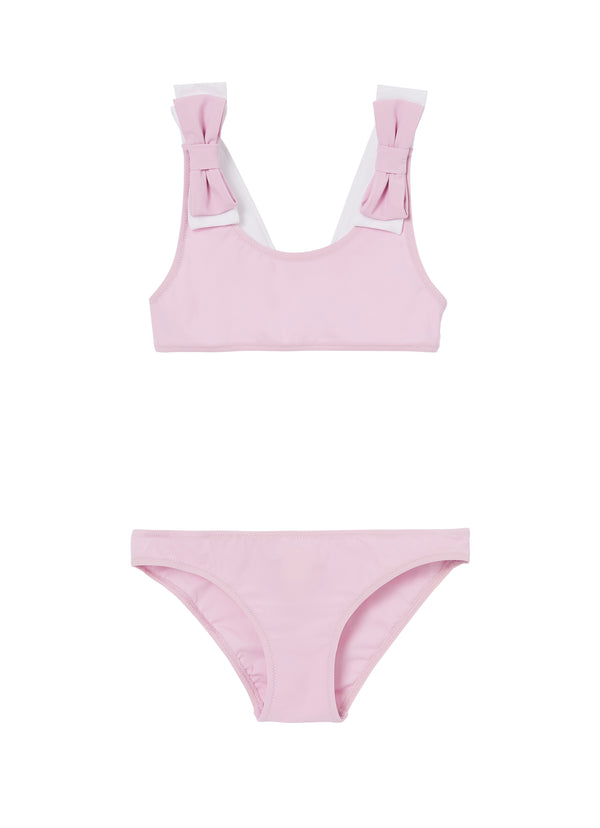 Girls Pink & White Swimsuit