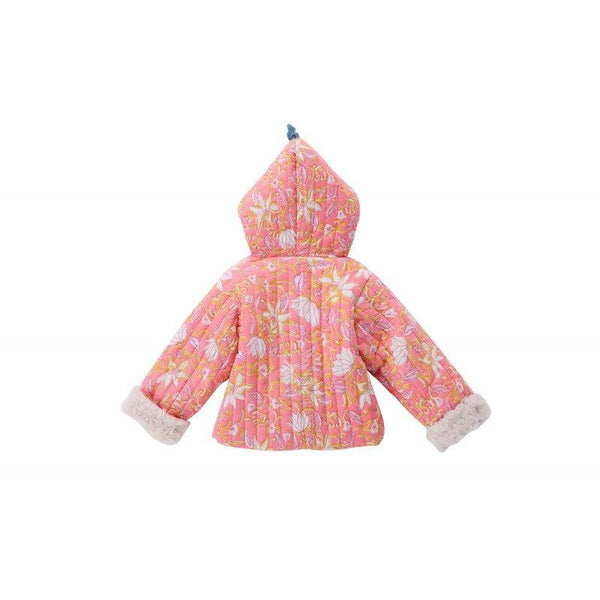 Girls Coral Flower Cotton Jacket