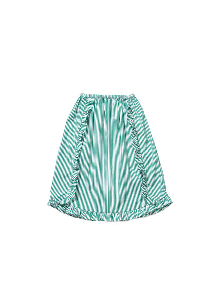 Girls Green Striped Skirt