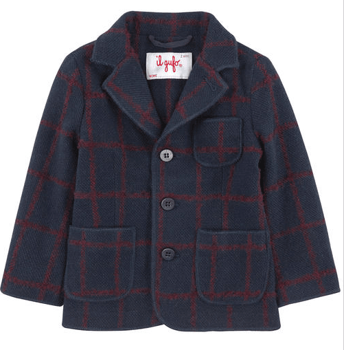 Boys Navy Blue Patch Pockets Felt Blazer - CÉMAROSE | Children's Fashion Store