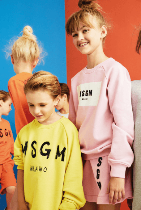 Girls Pink Cotton Sweatshirt With White Brand Logo - CÉMAROSE | Children's Fashion Store - 2